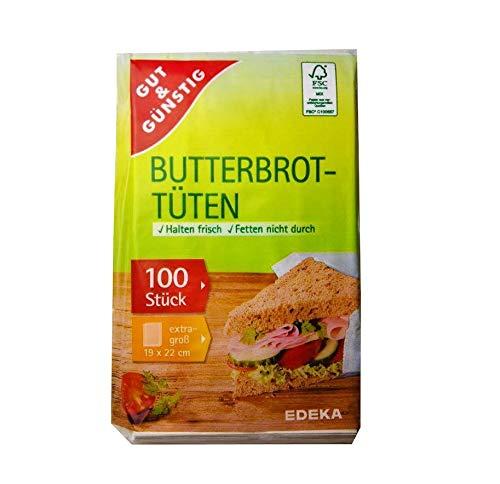 Gut & Günstig 100 Frühstückstüten 19cmx22cm