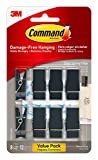 Command Spring Clips, Slate, 8-Clips (17089S-8ES), Decorate Damage-Free