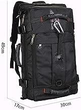 MINALO Men's Travel Bags Fashion Men Backpacks Men's Multi-Purpose Travel Backpack Multifunction Shoulder Bag Black
