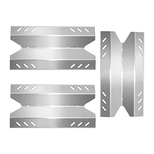 Boloda Protectores de placa de calor para parrilla de gas, piezas de acero inoxidable de repuesto para miembros Mark BQ05046-6, BBQ Pro BQ05041-28, BQ51009, Sam's Club, Outdoor Gourmet, 16 1/8 x 8 3/8 pulgadas, tienda de campaña de calor, paquete de 3