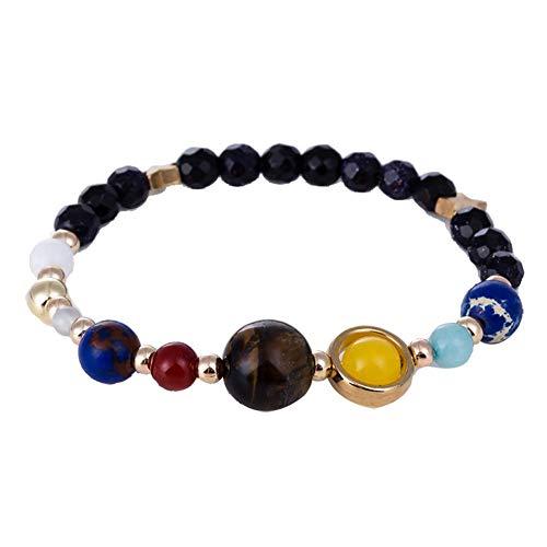 Ogquaton Damen Armband Solar System Planet Compilation Armband Geburtstagsgeschenke für Frauen Mädchen Praktisch und bequem