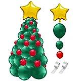 genialkiki Conjunto de Globos de árbol de Navidad, 2020 Decoración navideña Feliz año Nuevo Arreglo de atmósfera Conjunto de Globos