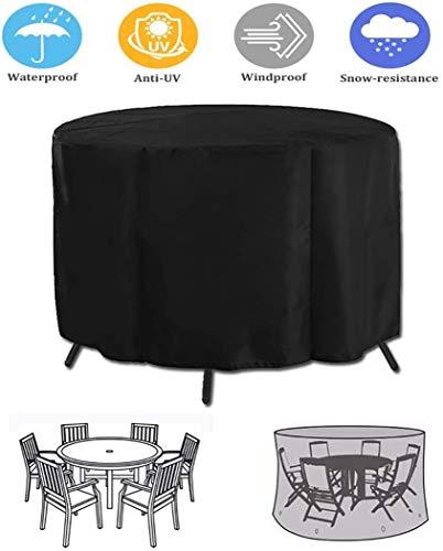 ZJZ Cubiertas para Muebles de jardín 210 Muebles para Patio de Alta Resistencia OxforFabric Impermeables, a Prueba de Viento, Anti UV, para sofás y sillas Negras, 128 * 71 cm, (tamaño: 140 * 95