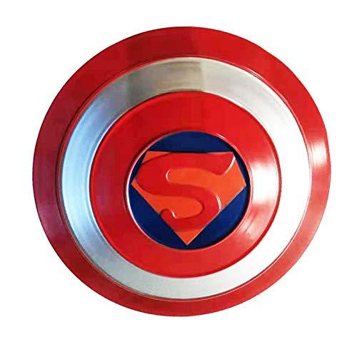 ABDOMINAL WHEEL Escudo del Capitn Amrica,1:1 Avengers Versin de la Pelcula Escudo Metal,47Cm Accesorios para Juegos de rol de Pelculas,Accesorios de Mano de Superhroe para Juegos de rol C,47CM