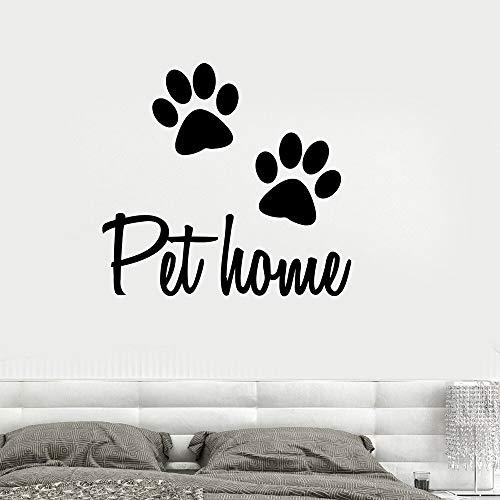 Pet Salon Pet House Tierhund Katze Veterinary Home Pet Shop Schwarze Wandaufkleber Zitate Selbstklebende Wandaufkleber Wird Für Die Dekoration Von Familienwohnzimmern Und Schlafzimmern Verwendet 42X