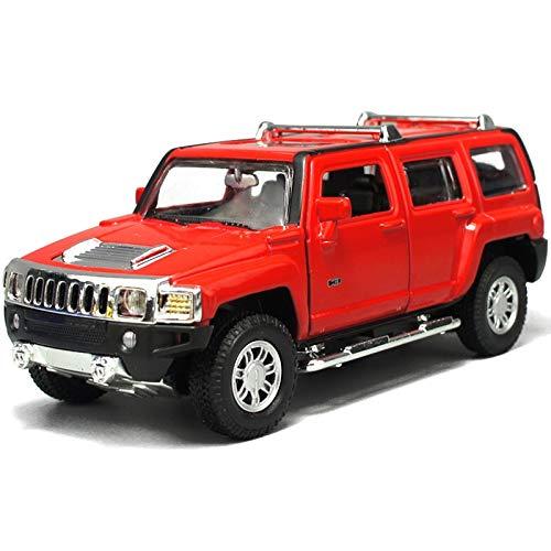 Modelo de coches para niños Fundición a presión de aleación modelo de coche 1:24 Hummer H3 Todoterreno 19x8x7.5cm Educación Vehículo de sonido y puede Luz abierto La simulación niños de Puerta de coch