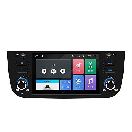 Estock1 Android 10 GPS USB SD WI-FI Bluetooth MirroLink autoradio navigatore compatibile con Fiat Punto Evo Fiat Street 2010, 2011, 2012, 2013, 2014, 2015 radio grande punto