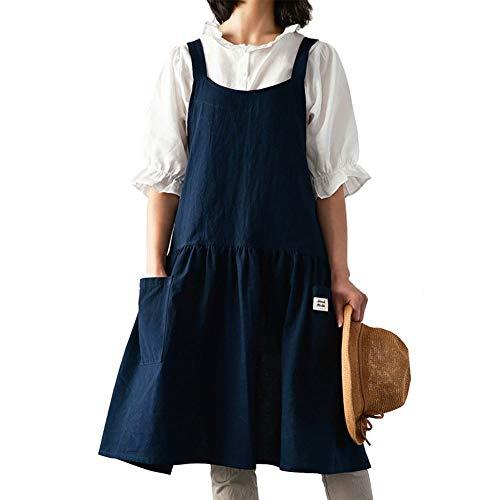 Delantal de cocina moda femenina cintura casa antiincrustantes de tipo chaleco vestidos de trabajo adulta del delantal de belleza té de cocina de la casa de uñas cintura trabajo contra la contaminació