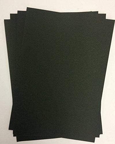 50 Blatt DIN A5 schwarzes Papier 320g/m² von Top Lamination - komplett durchgefärbt, Farbkarton schwarz, schwarzer Tonkarton