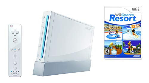 Wii Console w/ Bonus Wii Sports Resort & Wii MotionPlus Bundle (Renewed)