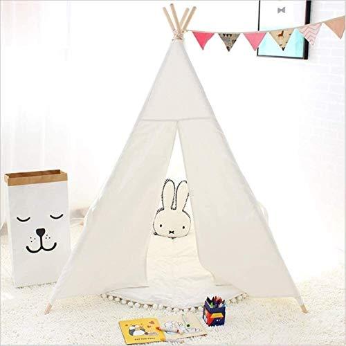 IUYJVR Cama para Mascotas Tienda de campaña para niños Tipi Artículos para el hogar Algodón Plegable Removible y Lavable Casa de Juegos para niños Bebés (0-2 años) Castillo (Color: Gris) (Color: Bl