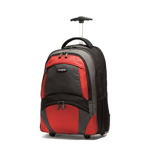 Samsonite Wheeled Backpack, Black/orange, One Size
