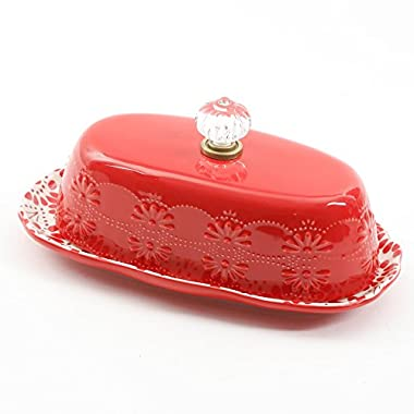 Pioneer Woman 8 Inch Floral Bursts Butter Dish (1)