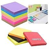 Foglietti Adesivi Per Appunti 1000 Pcs Note Adesive Autoadesive Note Colorate Taccuini Colorati Block Notes Quadrati Per Studenti Impiegati In Ufficio Domestico 10 Colori 76 x 76 Mm