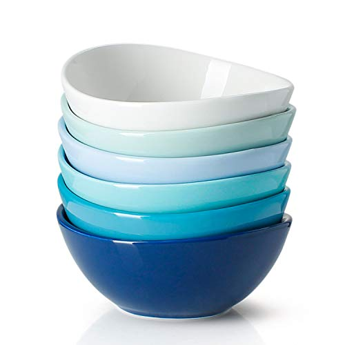 Sweese 102.003 Porcelain Bowls - 18 Ounce for Cereal, Salad, Dessert -...