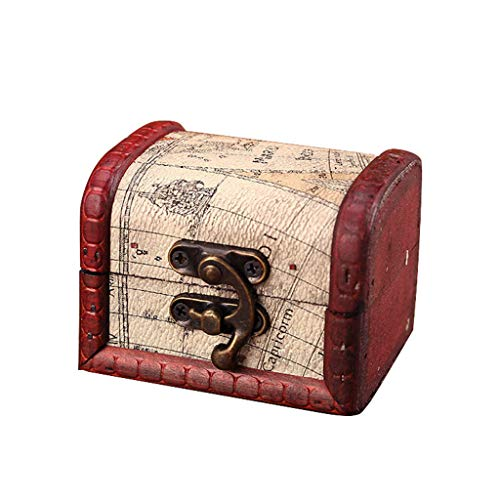 Jewelry Storage Jewelry Box Vintage Wood Handmade Box with Mini Metal Lock for Storing Jewelry Treasure Pearl Home & Garden Housekeeping & Organizers Christmas for Faclot