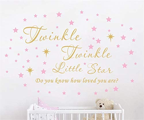 Twinkle Twinkle Little Star Wall Decal Vinyl Quote Sticker Do You Know How Loved You are Nursery product image