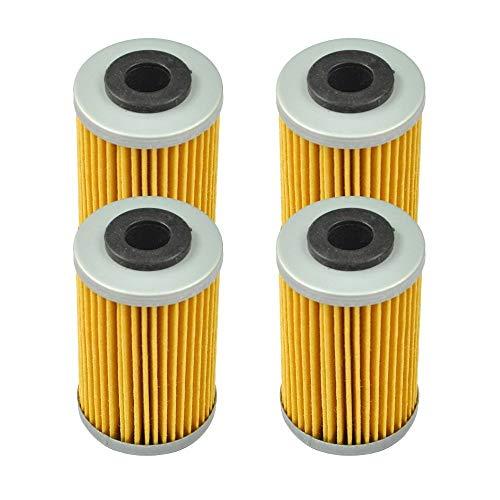 Motorradölfilter 4 Stück Motorrad-Ölfilter for KTM 125 200 390 620 690 Duke RC 250 400 EXC Racing 520 525 620 450 625 640 660 SXC Super Ölfilter