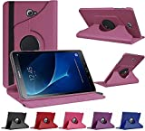 munddy- Funda GIRATORIA 360º con Soporte para Samsung Galaxy Tab A 2016 10.1' T580 T585,rotable 360° (Protector Cristal Templado Opcional) (Morado) …