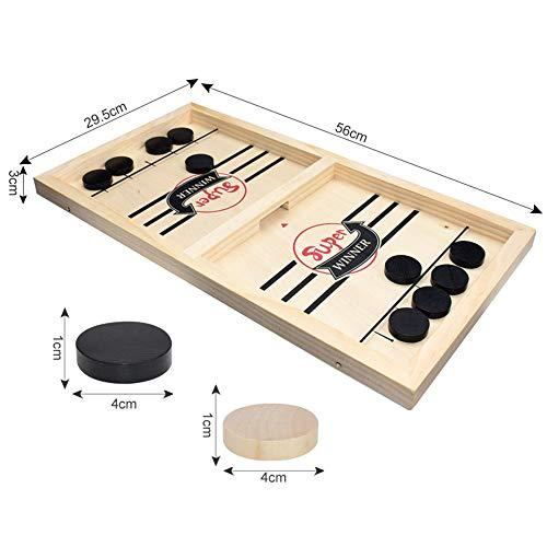 Tafel Bureaublad Strijd 2 in 1 ijshockeyspel, snelle sling-puck Spel voor twee spelers Bordspel Houten speelgoed voor volwassen kind Familiefeest