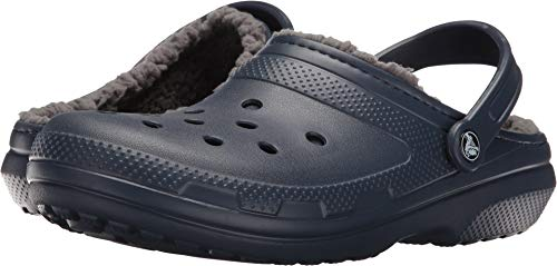 Crocs Classic Lined Clog, Zuecos Unisex, Azul (Navy/Charcoal), 42/43 EU