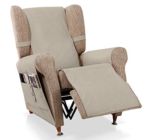 JM Textil Sesselschoner Relax GEA Größe 1 Sitzer (55 cm), Farbe Beige