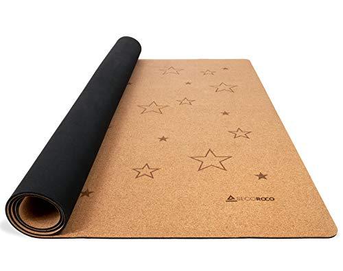 Secoroco Spielmatte für Kinder aus Kork & Kautschuk, Stars 140x110cm, rutschfest & schadstofffrei, antiallergene Krabbelmatte für Kleinkind & Baby aus natürlichen Materialien, inklusive Tragetasche