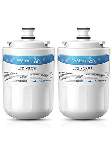 Waterdrop UKF7003 Kühlschrank Wasserfilter Ersatz für Maytag Jenn-Air PUR PuriClean UKF7003, UKF7002, UKF7001; Whirlpool EDR7D1; Smeg 763410342; Beko AP930, AP930S, AP930X; Lamona HJA6100 (2)