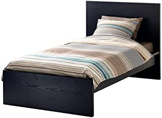 Ikea Twin size Bed frame, high, black-brown 6210.142914.2014