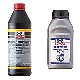 Liqui Moly 1127 Aceite Para El Sistema Hidráulico Central, 1 L + 3093 Liquido Para Frenos Dot4, 500 Ml