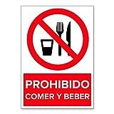 Señal Prohibido Comer y Beber   Señalética en...