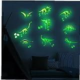 NIDONE Adhesivos de Pared Luminosa Brillan en la Oscuridad Pegatinas Brilla Dinosaurio Techo decoración del Regalo de cumpleaños
