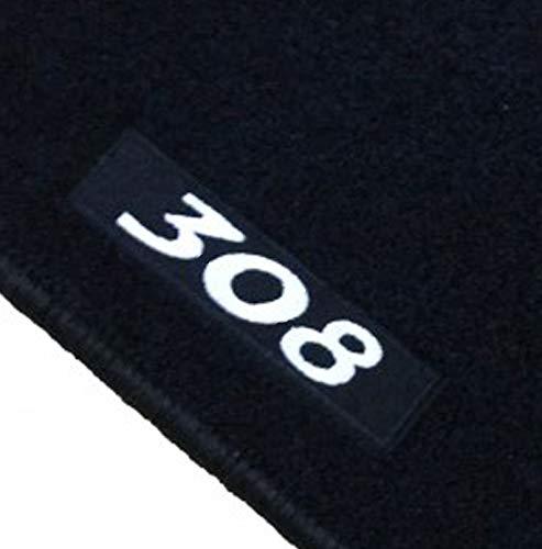 Alfombrillas Peugeot 308 3 o 5 Puertas (2007-2013) a Medida Logo   Rey Alfombrillas®