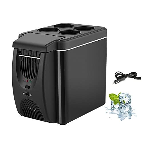 Refrigerador de 12 v, calentador de congelador, mini refrigerador y calentador de congelador de coche de 6 l, enfriamiento rápido y bajo consumo de energía, refrigerador portátil de viaje