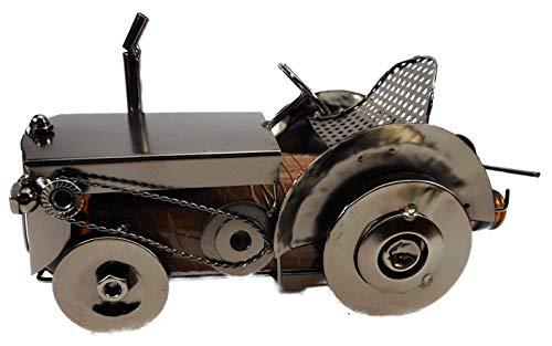 GIK Soporte para botellas de cerveza, soporte para latas de tractor (sin botella/lata, 24 x 15 cm), soporte para botellas, figura decorativa 3058
