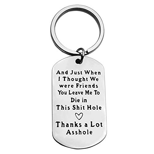 Colleague Leaving Gift Funny Going Away GiftColleague Appreciation Keychain Coworker New Job Farewell Gift Goodbye Gift Retirement Gift