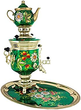 "Samovar electric 3 liters""Bank"" in the set""Field berry"" hand-painting"