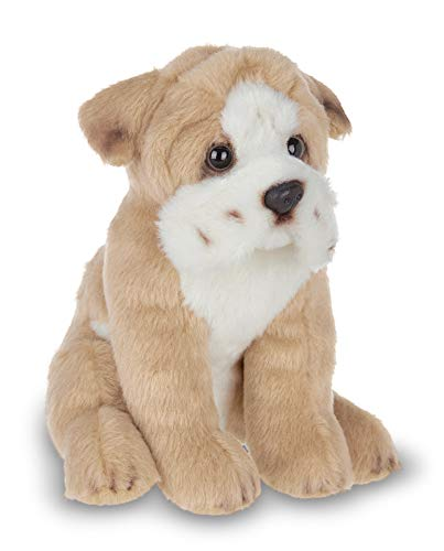 Bearington Lil' Tug Small Plush Bulldog Stuffed Animal Puppy Dog, 6.5 inch