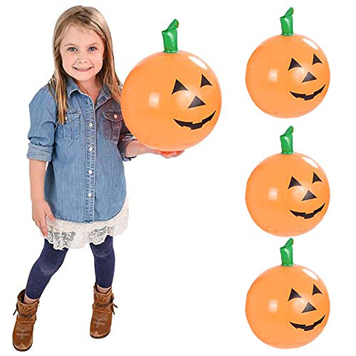 The Dreidel Company Halloween Pumpkin Inflatable Decorations, Carnival Parties, Beach Party, Birthday Event, Outdoor Swimming, 16' Tall (3-Pack)