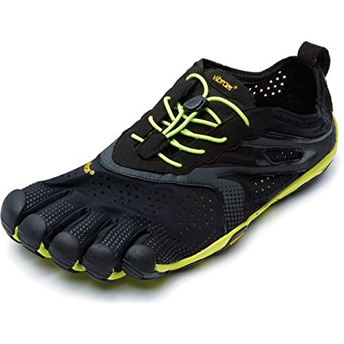 Vibram FiveFingers V-Run, Sneakers Basses Homme, Noir (Black / Yellow), 49 EU