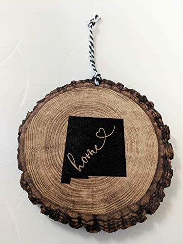 New Mexico Christmas Ornament State Ornament Rustic Ornament Wood Slice Ornament Country Christmas