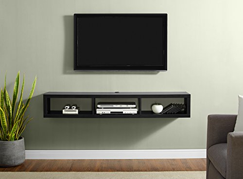 Martin Furniture Shallow Floating TV Console, 60', Black