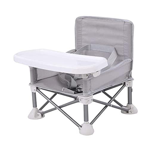 AMOOM Faltbarer Kinder-Esstischstuhl, tragbarer Hochstuhl Kleinkindsitz mit verstellbarem Gurt und Tablett für Babys, drinnen und draußen