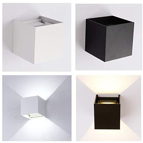 LED wandlamp binnenwandlamp Cube Corridor zwart op en af warm koel outdoor bed wit nacht klein eenvoudig AC110-240V 12W @ zwart 12W_warm wit