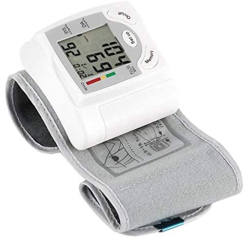 Bloeddrukmeter Pols, Draagbare Bovenarm Bloeddrukmeter Lcd-Scherm Nauwkeurige Automatische Bloeddrukmeter Verstelbare Polsmanchet Digitale Hartslagmeter Voor Thuis Hartslagmeter