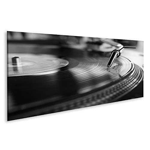 Cuadro en lienzo Reproductores de vinilo Equipo de sonido analógico para que los DJs reproduzcan música digital Equipo de audio de primer plano para disco Cuadros Modernos Decoracion Impresión Salon