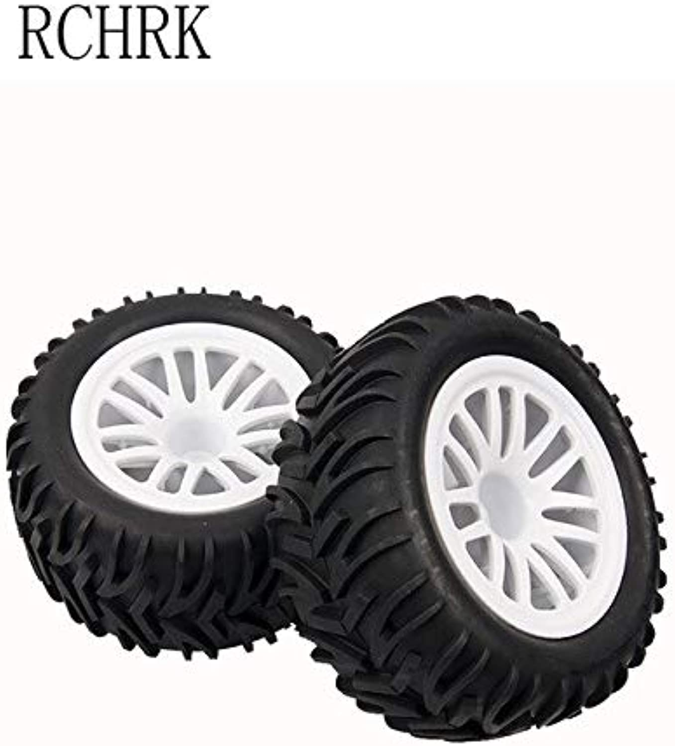 2pcs Rubber Wheel Big Wheel Tire 115mm Wide 55mm Hexagon Combined with 12mm Truck Tire Fit Rc car hsp 1 10 94111 94188 94108   White