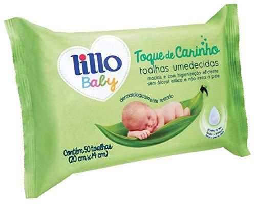 Toalhas Umedecidas Baby - Lillo, Pacote com 50 unidades