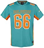 Majestic Miami Dolphins NFL Players Poly Mesh Tee/T Shirt Blue - L