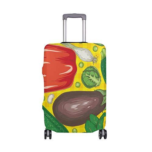 ALINLO Colorido Patrón de Verduras Cubierta de Equipaje Equipaje Maleta Protector de Viaje Para 45-32 Pulgadas
